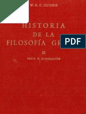 Guthrie Wkc Historia De La Filosofía Griega Iii 1971