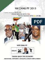 "ZANU PF 2013 Election Manifesto "" Taking Back the Economy"" -Indigenise, Empower, Develop and Create Employment"