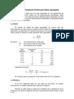 Medidas de Tendencia Central Para Datos Agrupados