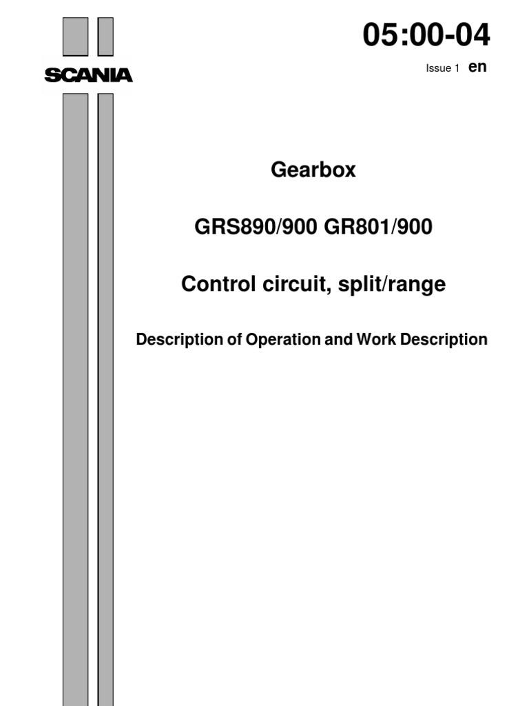GRS 890 900 GR 801 900 | Manual Transmission | Valve.