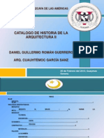 Catalogo de Historia de La Arquitectura II