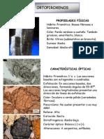 INOSILICATOS - PIROXENOS