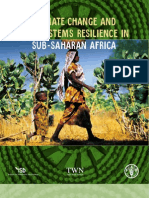Climate change, and food resilience in Sub-Saharan Africa