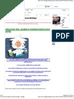 (1) Oracion Del Quimico Farmacobiologo - Taringa!