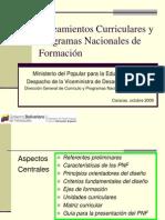 Lineamientos Curriculares y Programas Nacionales de Formación