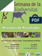 Resumen de Resultados VIII Semana de La Bio Millares 2013