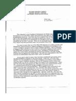 NSA Rejection Letter