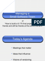 6.170-Lec21-Managing a Small Software Team