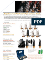 Boquilhas artesanais de Cristal, Cristal preto, Jazz e Madeira para Clarinetes e Saxofones - POMARICO, feitas na Itália desde 1950 - Agora no Brasil
