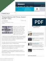 'Shadow Banking' Still Thrives, System Hits $67 Trillion