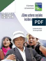 Cómo actores sociales inciden en políticas públicas