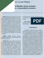 Alvaro Carvajal Villaplana El Analisis Filosofico de Las Nociones de Pobreza y Desigualdad Economica