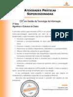 ATPS Algoritmos Estrutura Dados