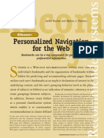 Personalized Navigation for the Web