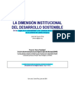 La Dimension Institucional Del Desarrollo Sostenible