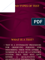 Test and Types of Test