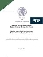 Manual Del Proceso Certificacion de Hospitales-2009v05[1]