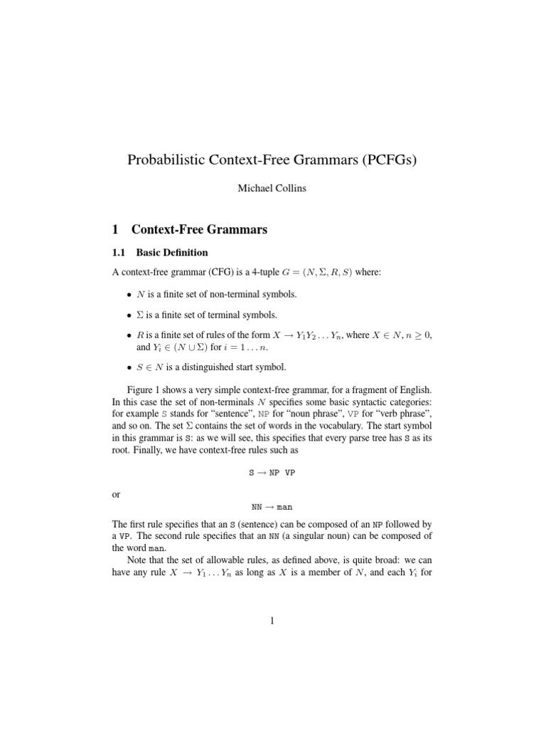Week 3 probablistic context free grammars parsing phrase biocorpaavc