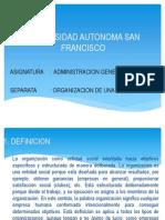 Presentacion - Organizacion de Una Empresa