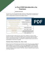 Curso Excel 2010 Introducción a las Funciones