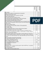 Skills Checklist