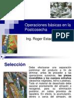 Operaciones básicas en la Postcosecha