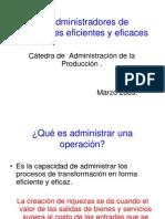 Modulo I La Funcion Produccion Administradores de Operaciones