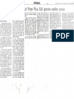 """""""Recent Jewish criticism of Pope Pius XII Ignores Earlier Praise"""" by Dimitri Cavalli in the Journal-News (White Plains, New York), p. 11B"""