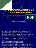 Paysandu Complicaciones de La Transfusion