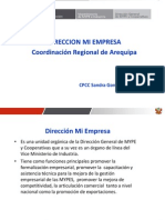 Difusion Ley Mype Arequipa