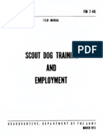 Fm 7-40 Scout Dog Training and Employment 1973 Text