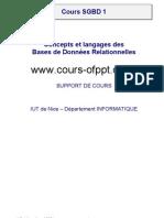 Concepts Et Langages Des Bases de Donnees Relationnelles SGBD 1
