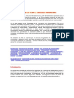 IMPACTO DE LAS TIC EN LA ENSEÑANZA UNIVERSITARIA