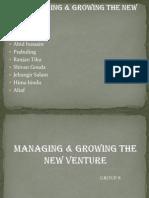 Managing n Growing New Venture