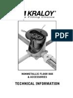 Nonmetallic Floor Box & Accessories Technical Info