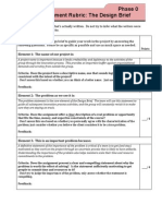 1C Design Brief Grading Rubric