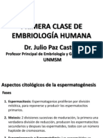 PRIMERA CLASE DE EMBRIOLOGÍA HUMANA