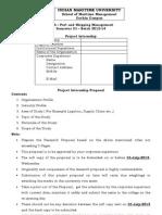 MBA Project Proposal IMU