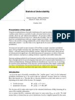 Statistical Undecidability - SSRN-Id1691165