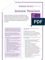 MYOB Electronic Timeclock