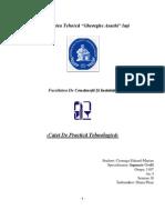Caiet PRACTICA Tehnologica - Constructii Civile - An I