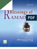 Blessings of Ramadan,Ameer-e-Ahl-e-Sunnat Allama Muhammad Ilyas Qadri.