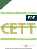 2007 Cett Paper 1 Methodology