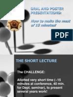 Kuliah 09 Oral and Poster Presentations