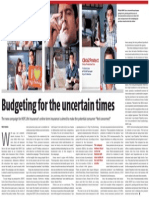 budgeting in uncertain times