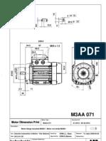 A1.5012 Dim.Print.M3AA071 IM-B14