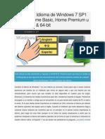 Cambiar El Idioma de Windows 7 SP1 Starter