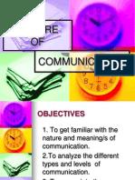 Communication and its nature.