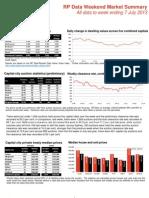 RP Data Weekend Market Summary (7 July 2013)