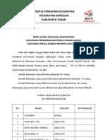 Berita Acara Verifikasi Administrasi dan Faktual